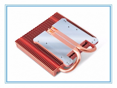 Fastening FIN heat pipe welding radiators